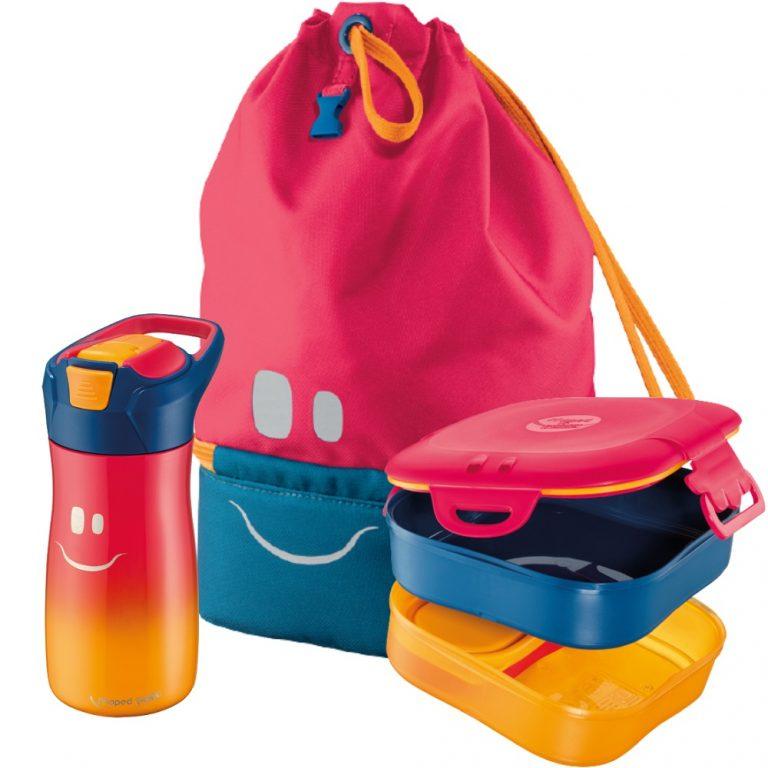 Kit Maped Picnik : gourde 430ml + boîte à déjeuner + sac à dos